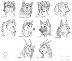 $5 Headshot Sketches Group 3 by Idess