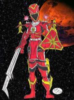 Red Ranger Mars Battlizer by JohntheSilver