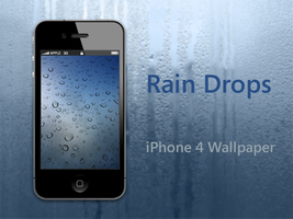 Rain Drops iPhone 4 Wallpaper by biggzyn80