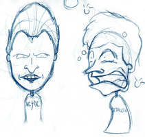 Sketchbook Beavis and Butthead by YdocNameloc