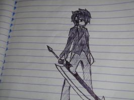 my OC is holding a sword by tatsumi5