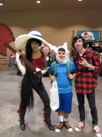 Marceline, Finn, and Marshall by L-Angelo15