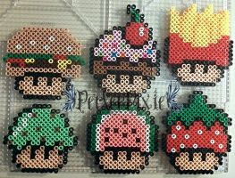 Food Mushrooms 1 by PerlerPixie