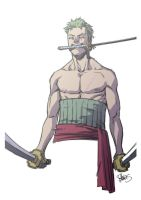Zoro - One Piece sketch by elena-casagrande