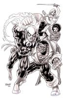Iron Fist  Powerman and co by gammaknight