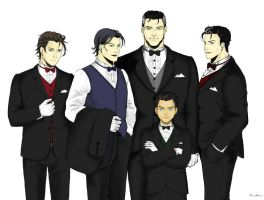 Batboys in suit by Golomaka-chan