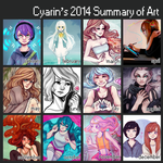 2014 Sunmary of Art by Cyarin