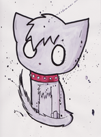 Emo Kitty by CarryOnLostFriends