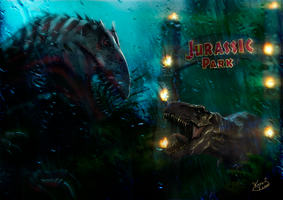 Jurassic World vs Jurassic Park by Zhorez1321