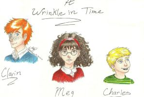 A Wrinkle in Time trio by ElvenWarrior14