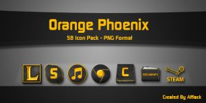 Orange Phoenix Icon Pack by Afflack70