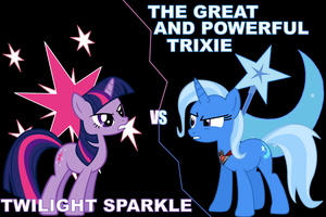 Twilight VS Trixie Wallpaper by SonicRainBoomFTW