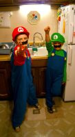 Mario and Luigi by Xprinceofdorknessx