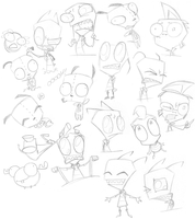 Invader Zim Sketchdump of DOOM! Page 3 by SecretagentG