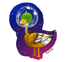 duck in space by iceiline