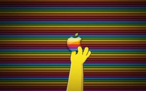 Apple Simpsons Wallpaper by pleasingfalsetto