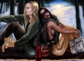 And We Talked All Night: Thalion and Laluna by SYoshiko