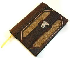 Dragon Scale Leather Journal by McGovernArts