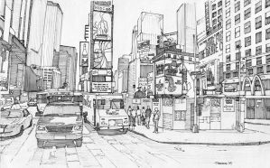 Times Square, New York 1 by Edgeman13