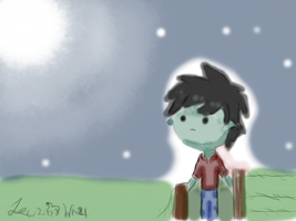 Bad lonely little boy by JECSTER21