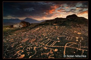 Paiute Petroglyphs and Sierras by narmansk8