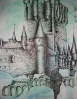 castle with ink by cheesehopkins