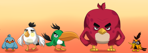 Angry birds in movie style by Antixi