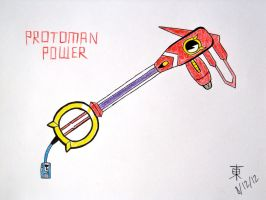 Protoman Power Keyblade by JazzyTyfighter
