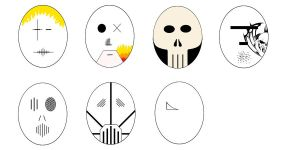 Masks Unfinished by 666Souless