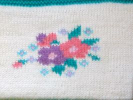 Detail from Multicoloured Jumper by ToveAnita