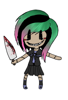Girl With A Knife Redo by Pansymanic