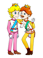 SMB_SMS_Prince Plum and Prince Daffodil by Chivi-chivik