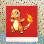 12x12 Charmander Painting by redroseelcamino