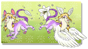 Plummet Pup  - Easter Lily [NEW SET PRICE] by Nestly