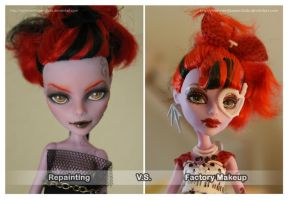 Repainting VS Factory Makeup: Operetta II by MySweetQueen-Dolls