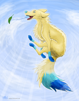 Jump, Fly, Burn a Leaf by WolfKodi