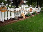 White Picket Pumpkin Fence 2 by FantasyStock