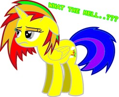 Rainbow Bolt: What the hell...??? by MoonCloudTheBrony