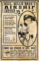 Millie's Airship Service Ad by GreyOfPTA