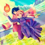 Commission: Howl's moving castle by Rusembell