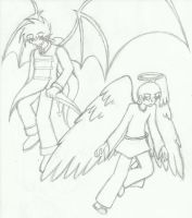 Demons and Angels by HiguchiPhoenix