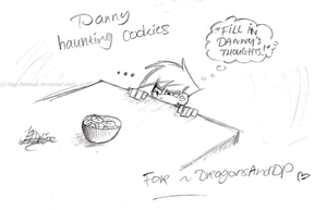 Danny haunting cookies - for DragonsAndDP by Witneus