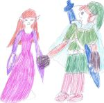 Speed Picture:  Zelda and Link by CGholy