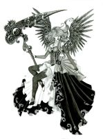 Death Angel in pencil by Annikki