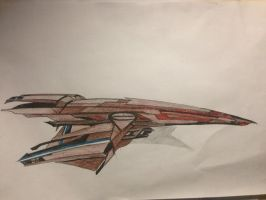 Turian Space Frigate by ME2FTW