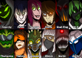 Dark Legion Roster by LulzyRobot