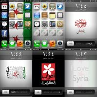 Syria revolution iphone wallpapers by moslem-d