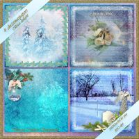 4 christmas papers Blue Delight preview by Creativescrapmom