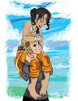 Chell and Demyx by dragonnova