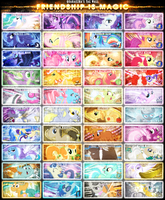 Friendship is Magic Tag Wall 6 by Paradigm-Zero